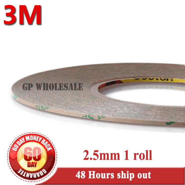 3M (2.5mm*55M*0.17mm) Double Adhesive Clear Tape Super Strong 300LSE for Samsung Galaxy Huawei iphone Tablet LCD Display Repair