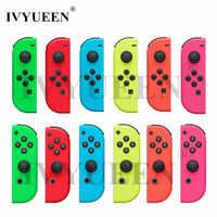 IVYUEEN para Nintend Switch NS Joy Con Carcasa Verde Amarillo Rosa izquierda/derecha Joycon Controlador Juego de Cubierta Accesorios
