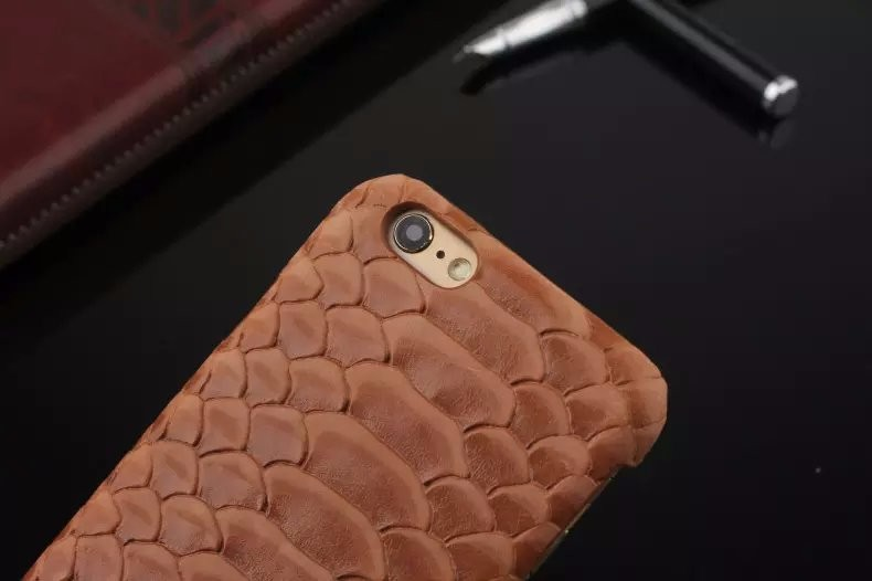 Luxury snake pattern genuine leather case for iPhone6 iPhone 6 Plus phone