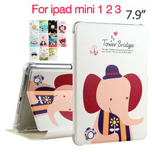 "For iPad mini 1 2 3 PU Leather Case Cover 7.9"" Protective Stand Shell Skin For Apple iPad mini2 Mini3 Tablet Fundas Smart Cases"