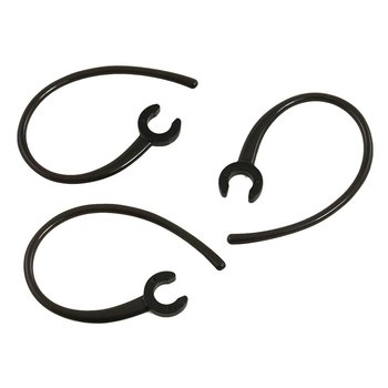 3 Pcs Handfree 5.5mm Hole Black Plastic Earhook for bluetooth Earphone