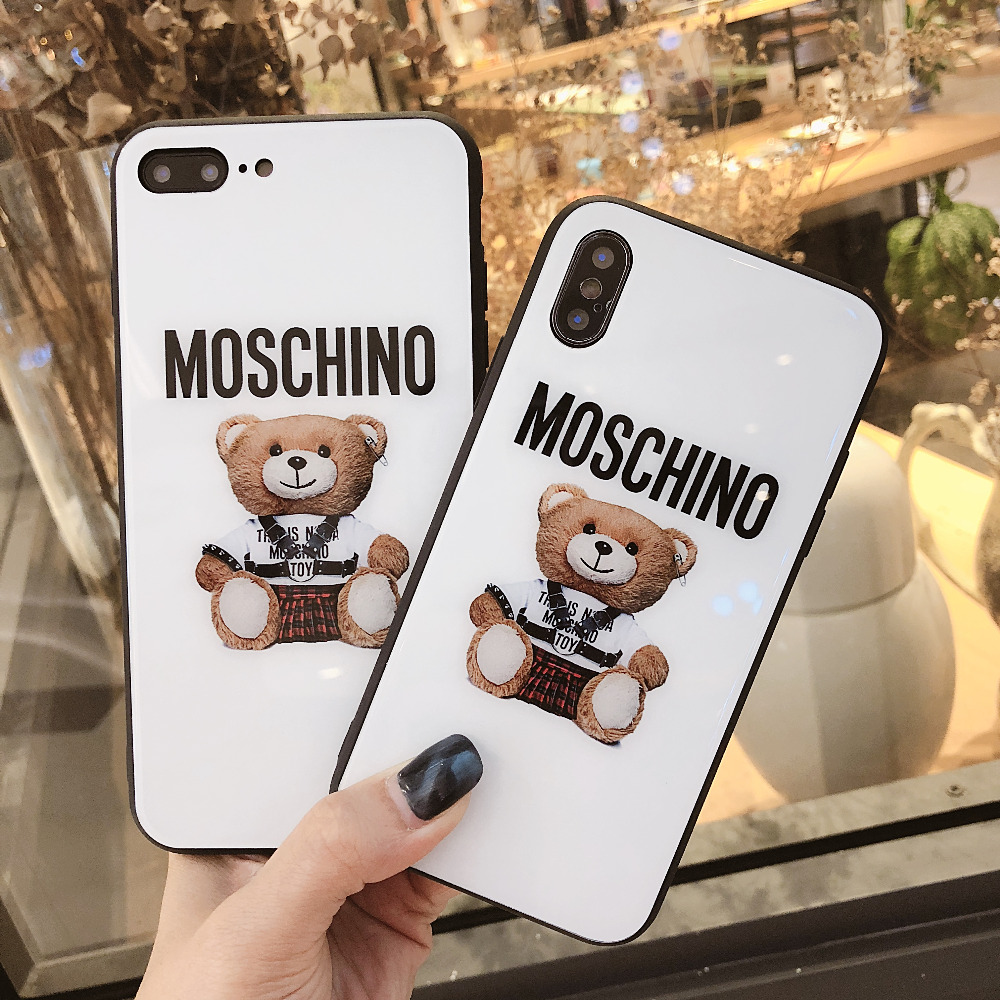 online store 70384 19ee0 US $3.32 |For iphone X Fashion Moschino silicone Soft Cover Case For iphone  X 7Plus TPU Coque Fundas For iphone 7 8Plus-in Fitted Cases from ...