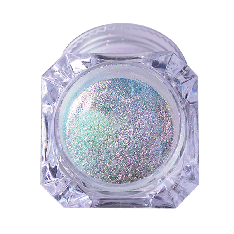 1 Box Holographic Nail Glitter Powder Rainbow Color Neon Effect Nail Art Flakes Decoration Chrome Na