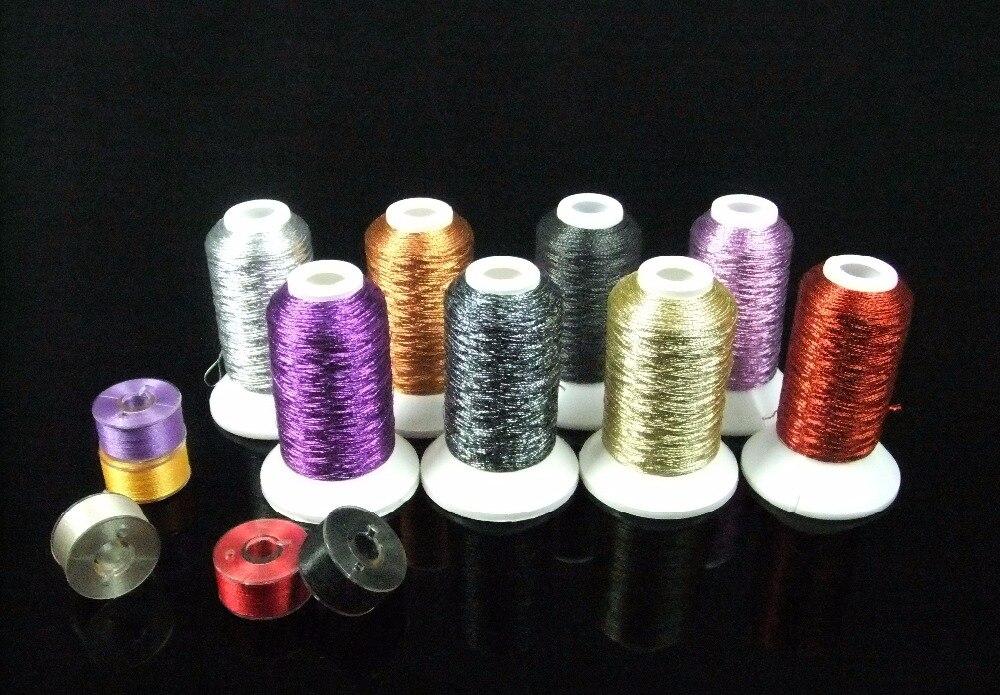 Simthread Metallic Embroidery Thread High Quality Halloween Colors For Brother/Babylock/Janome/Singer/Pfaff/Husqvaran/Bernina