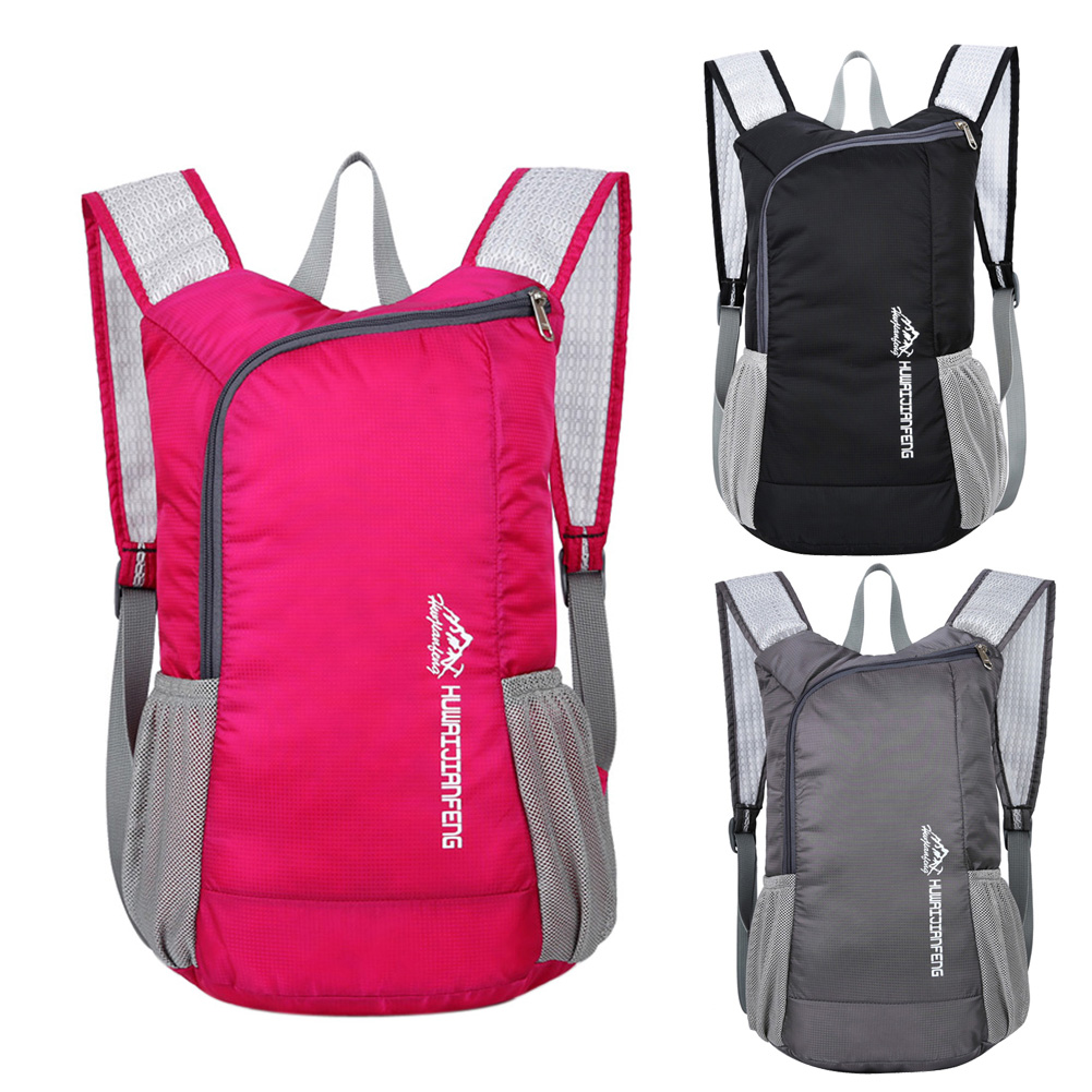 Foldable Waterproof Nylon Backpack Portable Package Men and Women Leisure Bag Trekking Travel Camping Climbing Outdoor Sport Bag