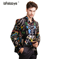 2016 new arrival Autumn/winter Fashion Men Blazer Slim Fit Long Sleeve Male new high-end velvet136827