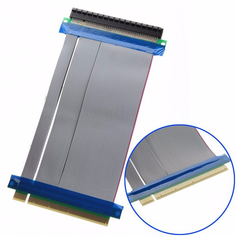 PCI E PCI-E Express 16X to 16X Riser Card Extender Ribbon Converter Extension Cable Adapter pci express pci e 8x to 16x riser card extender ribbon cable 15 5cm
