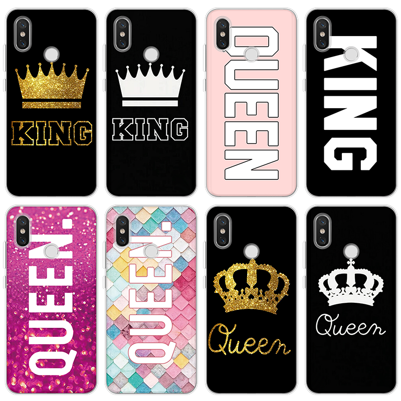 King Queen Case For Xiaomi Redmi Go S2 Note 3 4 <font><b>Global</b></font> 3 4 6 Pro Prime 4X 5A 5 6 7 Pro 3S 4A 4X 5 Plus 5A 6A 7 <font><b>Mi</b></font> <font><b>9</b></font> <font><b>SE</b></font> TPU Coque image