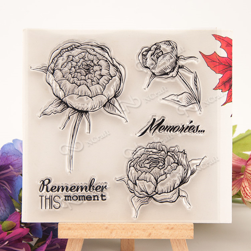 ''remmber this moment'' Transparent Clear Stamp Seal For Scrapbooking Photo Album Diary Card Making DIY Decoration Supplies T205 lovely animals and ballon design transparent clear silicone stamp for diy scrapbooking photo album clear stamp cl 278