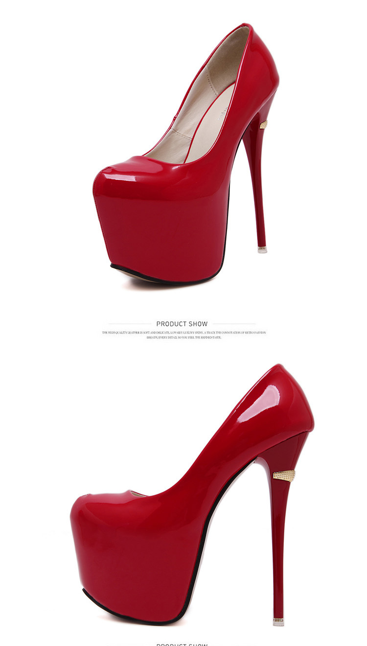 red wedding shoes Platform pumps extreme High Heels 16cm Sexy Pumps ... 9d7957354bd4