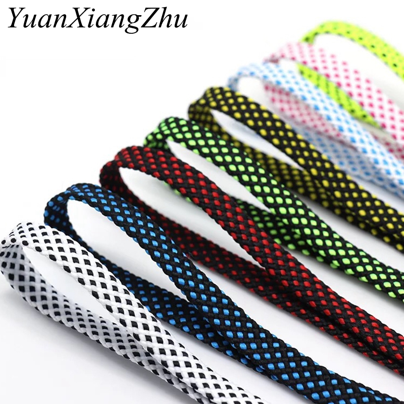 1 Pair Shoelace Fashion Polyester Sneaker Shoe Lace Colors Checkered Double Layer Hollow Flat Shoelaces 100/120/140CM PD1