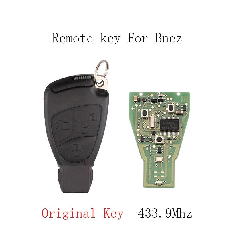 433 MHZ 2/3 boutons à distance Smart boîtier porte-clé coque de couverture pour Mercedes Benz B C E ML S CLK CL clé de voiture d'origine