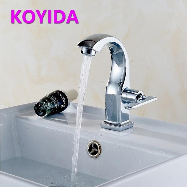 KOYIDA Basin Faucet Chrome Brass Deck Mounted Single Cold Water Taps ...