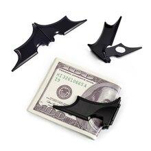 NewBring Noir Batman Pince à Billets Hommes Mat Magnétique Pliant Titulaire Portefeuille Clé Autocollant batman Métal Réfrigérateur aimant réfrigérateur
