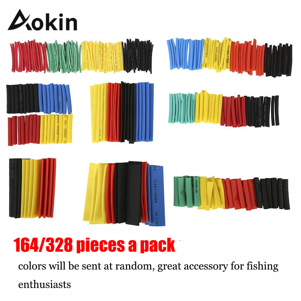 Heat Shrink wrapped Shrinking 328Pcs Insulation Sleeving Thermal Casing Car Electrical Cable shrink tube Tube kit Wrap trousse-in Insulation Materials & Elements from Electronic Components & Supplies