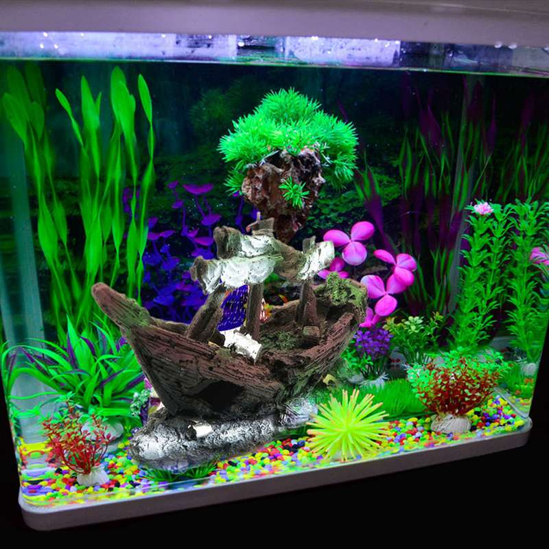Popular aquarium decorations ship buy cheap aquarium for Aquarium decoration ideas cheap