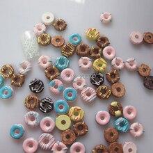 10 30 шт милый микс формы пончика ногтей смолы украшения Outlooking