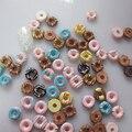 #10 30 unids lindos mezcla Donut forma decoración de la resina Outlooking