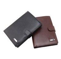 Fashion Short Men Wallet Travel Multifunction Purse Passport Card Wallet Billfold PU Leather Male Purse Dollar