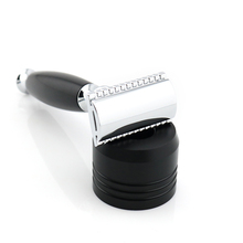 Double Edge Keselamatan Razor Shaving Razor Hitam Manual Razor Gaya Klasik 12.5CM Long Handle Lyrebird HL8 BARU