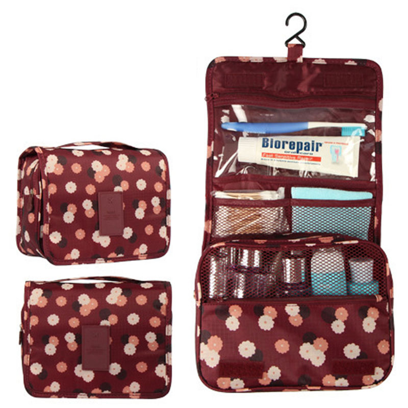 Valenkuci High Quality Travel Hanging Cosmetic Bag Organizer Bag Waterproof Portable Multifunction Toiletry Bag For Girl HZB-008