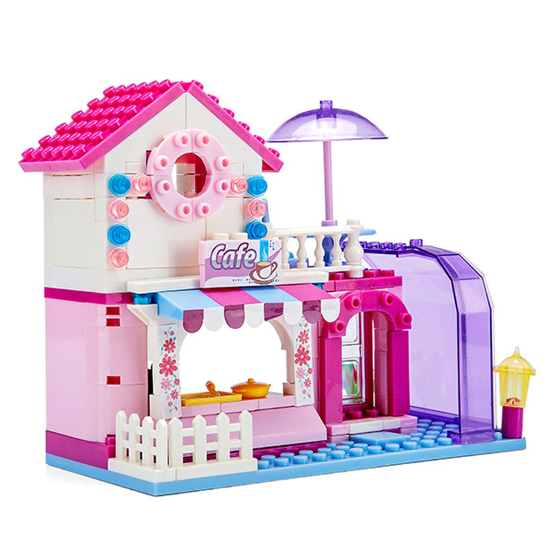 Diy Girl Friends Pink Villa Building Blocks Set Kids Compatible With Hobbies Bricks Toy For Christmas Gift Dolls House Toy House in Puzzles from Toys Hobbies
