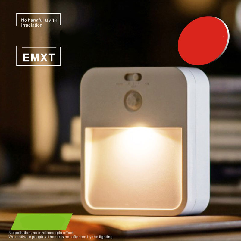 LED Chargeable Battery Light Night Lighting Auto Motion Sensor Body Induction Stair Fence Bedroom Home Wardrobe Lamp Garland