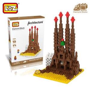 Mr.Froger LOZ Sagrada Familia Diamond Block World Famous Architecture Series Barcelona Spain Building Blocks Toys Castle Model