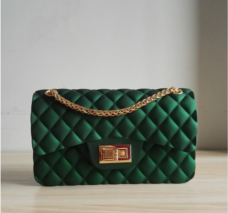 все цены на Caker 2018 Women PVC Diamond Lattice Shoulder Bags Waterproof Green Pink Wine Red Handbags Chain matt candy Shoulder Bag