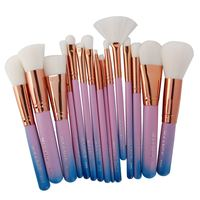 15Pcs Makeup Brushes Foundation Highlighter Eyeshadow Eyeliner Lip Brand Make Up Eye Brushes Cosmetic Beauty Maquiagem