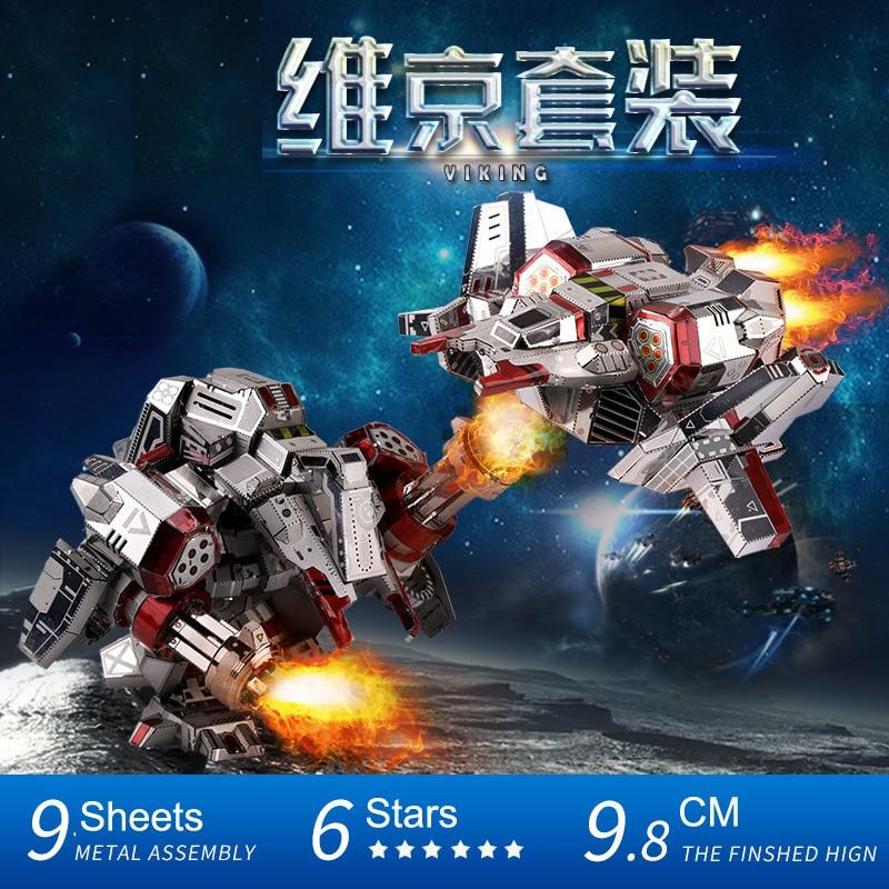 MU Star Craft 2 Terran Viking Set Armor DIY 3D Metal Puzzle Assemble Model Kits Jigsaw