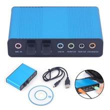 Tarjeta de sonido USB externa profesional, canal 5,1/7,1, adaptador para tarjeta de Audio óptico, controlador de Audio para PC, ordenador y portátil