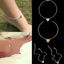 Fashion Women Love Heart Ankle Chain Anklet Bracelet Beach Sandal Foot Jewelry