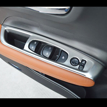 For Renault Koleos 2017 2018 Car Styling Accessories Stainless steel Car Door and window glass lifting switch Cover Trim sktoo for kia sportage r window lifter switch assembly with the mirror fold the left front door glass levelers switch with high