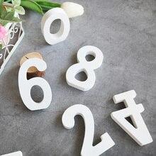 1 шт. белые деревянные цифры и алфавит слова деревянные буквы стол номер ремесло украшения DIY личности Свадебный декор
