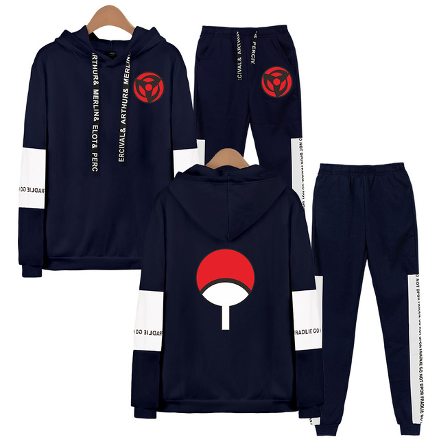 SET NARUTO THEMED HOODIE + TROUSERS (20 VARIAN)
