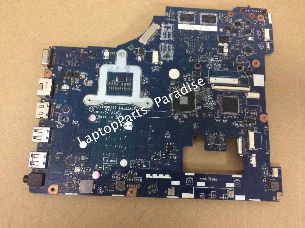 Fully Tested  VIWGQ GS LA-9641P Laptop Motherboard for Lenovo G510 mainboard with ATI Radeon R5 M230 Graphics v6j for asus vx1 laptop motherboard mainboard fully tested 100