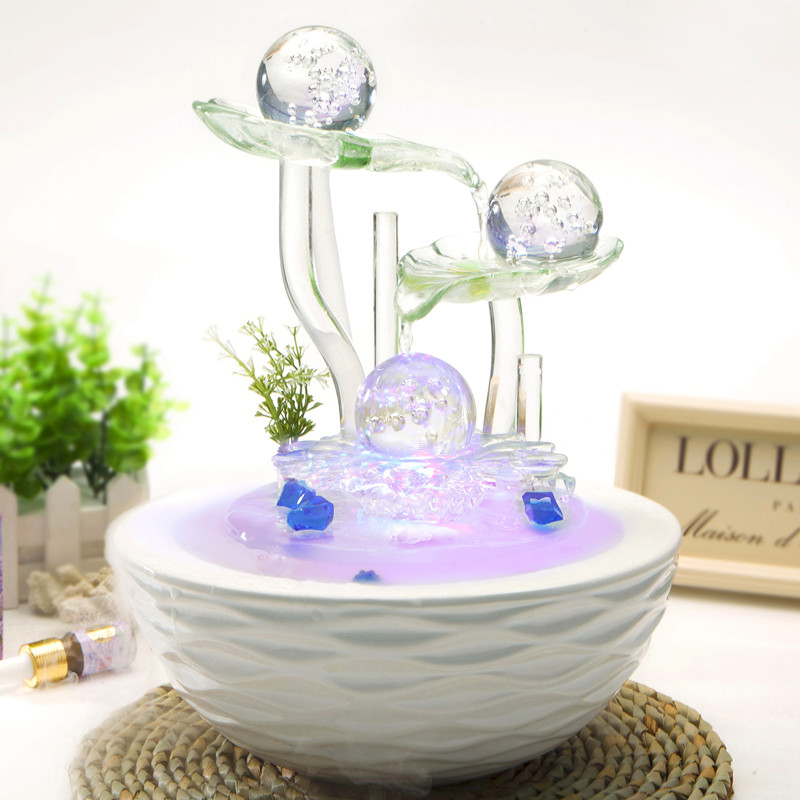 Wealth bring good luck water fountain fengshui crafts home for Home decorations gifts
