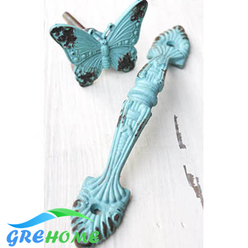 Furniture Drawer Cabinet butterfly Door Handles and Knobs,Kitchen Hardware Accessories Vintage Cupboard Pulls handle antique l door handle furniture handles black drawer kitchen cabinet door handle grips hole pitch handle pulls