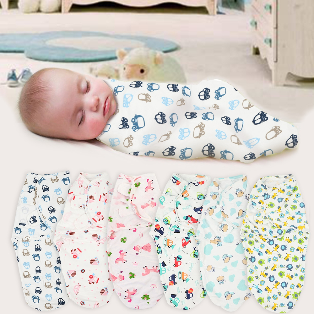 Mother & Kids Newborns Mattress Wrap Swaddle Blanket Bath Towel Envelope Cartoon Baby Infancy Cotton Sleeping Print Pattern Mat Hat Funny
