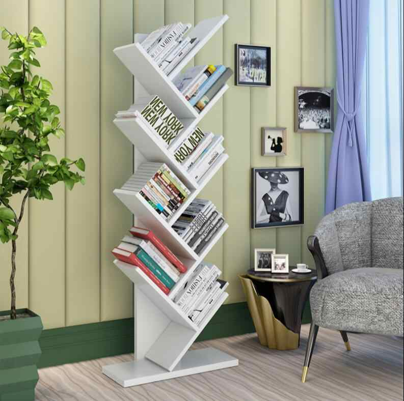buy online cf808 cddce Modern creative tree bookshelf office floor bookshelf student children's  bookshelf decoration display shelf small bookcase