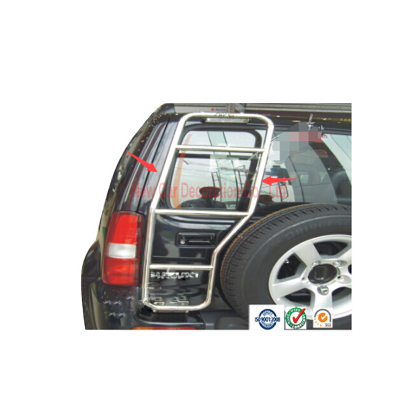 Car styling car stainless steel rear ladder for Suzuki Jimny 2008-2009 Car roof ladder