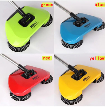Automatic Hand Push Sweeper Stainless Steel Sweeping Machine Push Type Hand Push Magic Broom Dustpan Handle  Sweeper mop