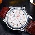 Hot Sale FEDYLON Homem de Couro Do Vintage Relógios de Marca de Quartzo Dos Homens À Prova D' Água Calendário Semana de Negócios Relógio de Pulso Reloj Hombre
