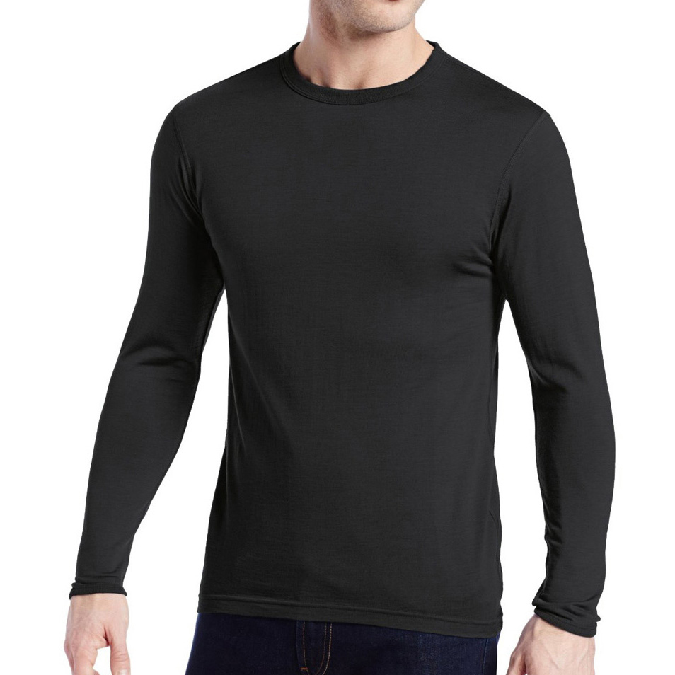 Men s 100 Pure Merino Wool Male Lightweight Base Layer Long Sleeves Warm Winter Spring Breathable