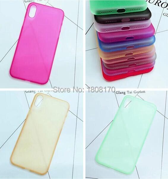 Матовый Ясно Мягкие TPU чехол для iPhone X iphonex ультра тонкий кристалл сотовый телефон кожного покрова Coque назад 200 шт.
