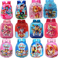 18 style Paw Patrol Dog Big Capacity Backpack eggshell School Bag Anti-lost Rope kindergarten Travel Action Figures Childre Gift
