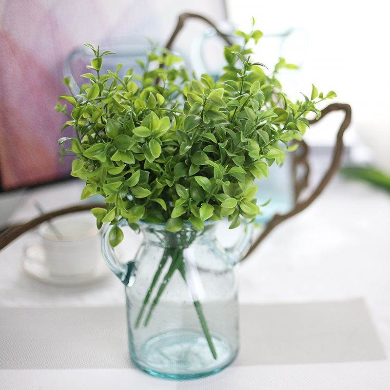 6 fork eucalyptus leaves simulation flower Artificial plant package wall decoration