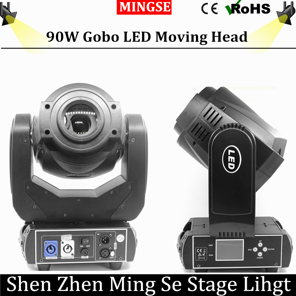 90W LED Moving Head Light 3 Face Prism Spot Light with Rotation Gobo Function for DJ Disco Stage  Projector Dmx 4/16 Channels 4xlot 90w led spot moving head lights dj controller for stage bar disco party dj wedding free shipping dmx 512 function 90v 240v