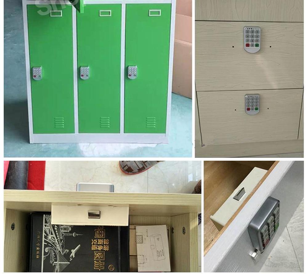 Anti-Theft Digital Touch Keypad RFID Card Induction Security Lock Deadbolts for File Cabinet Wardrobe Locker MAGT Smart Password Lock